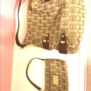 Michael Kors Purse with mini Handbag(clutch)